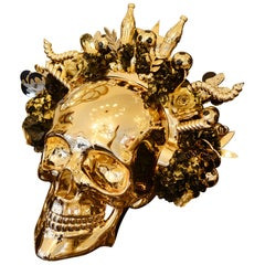 Skull Golden Youth Sculpture