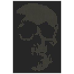 Skull Gun Bullets Panel in Black Plexiglass Exceptional Piece, 2018