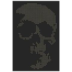 Skull Gun Bullets Panel in Black Plexiglass Exceptional Piece, 2018
