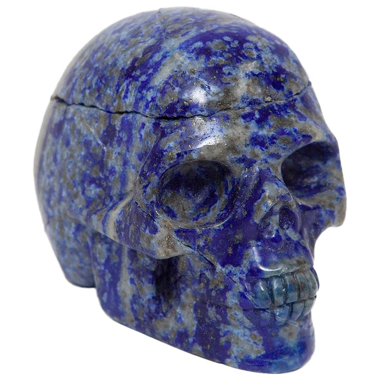 Skull Lapis Lazuli Sculpture Minature