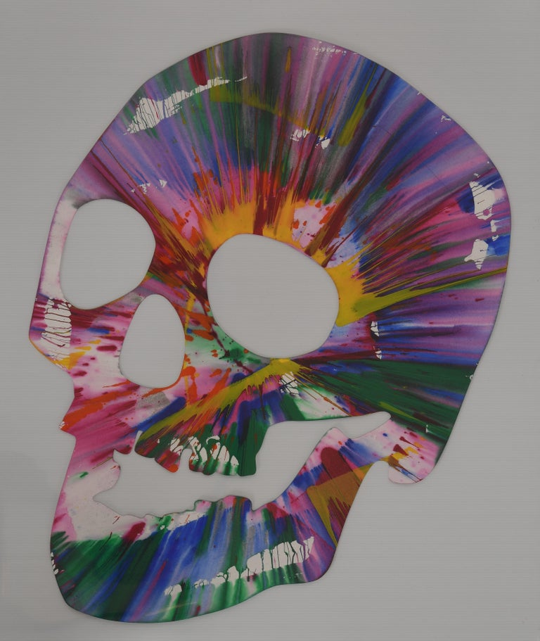 Skull Spin Painting Pinchuk Art Centre Damien Hirst, 2009 In Excellent Condition For Sale In Hamburg, PA