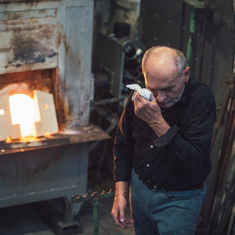 'Skull' Studio Glass Object by German Artist Joerg F. Zimmermann For Sale 4