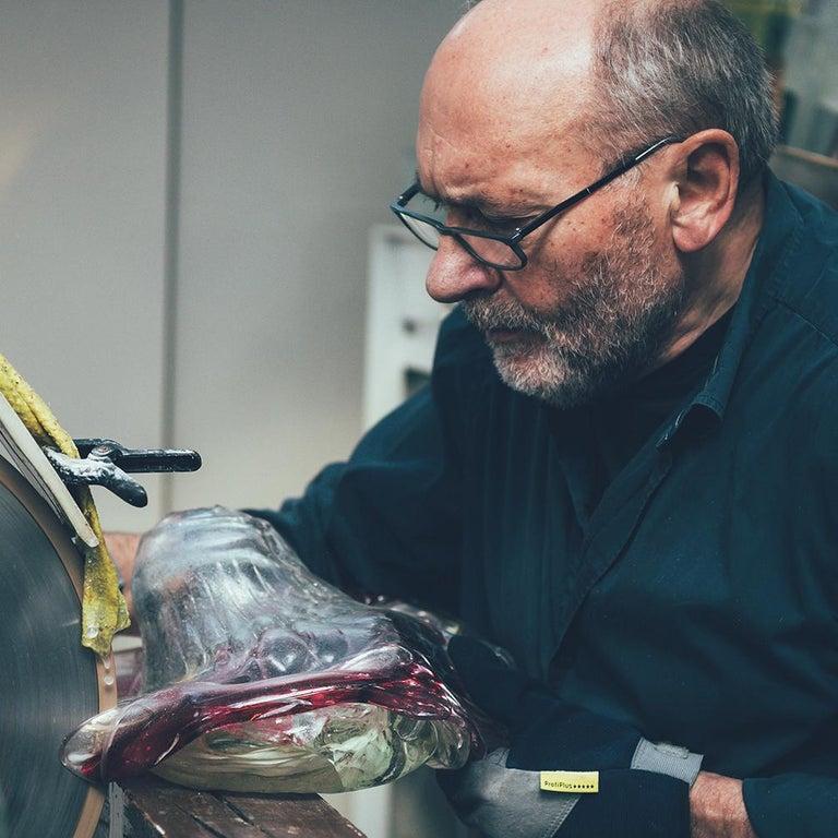 'Skull' Studio Glass Object by German Artist Joerg F. Zimmermann For Sale 5