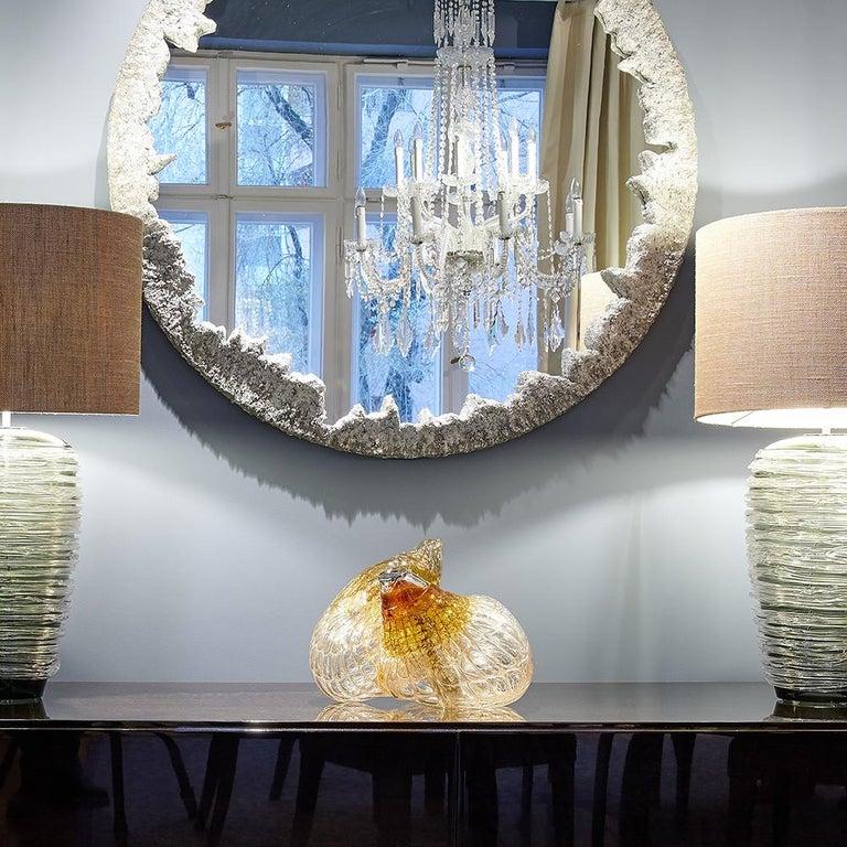 'Skull' Studio Glass Object by German Artist Joerg F. Zimmermann For Sale 8