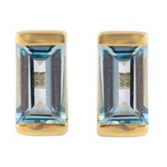 Sky Blue Topaz Bonbon Stud Earrings