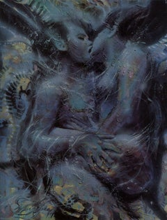 """Embrace #1"" Limited Edition Hand-Signed Surrealist Litho by Michael Whipple"