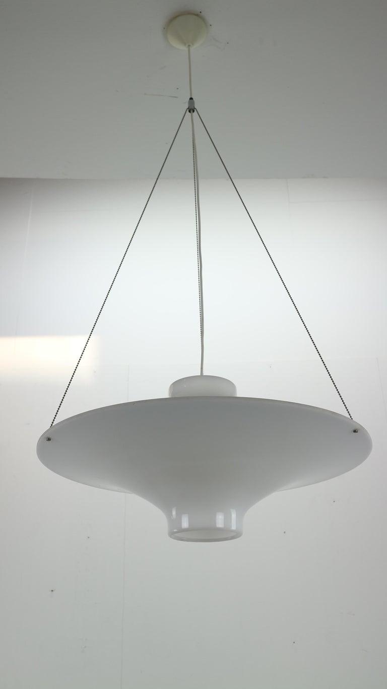 Finnish Skyflyer, Lokki Hanging Lamp by Yki Nummi for Sanka, 1960s For Sale