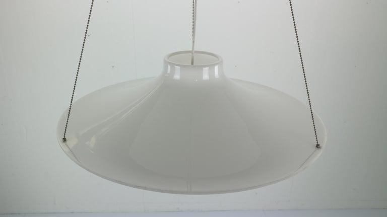 Mid-20th Century Skyflyer, Lokki Hanging Lamp by Yki Nummi for Sanka, 1960s For Sale
