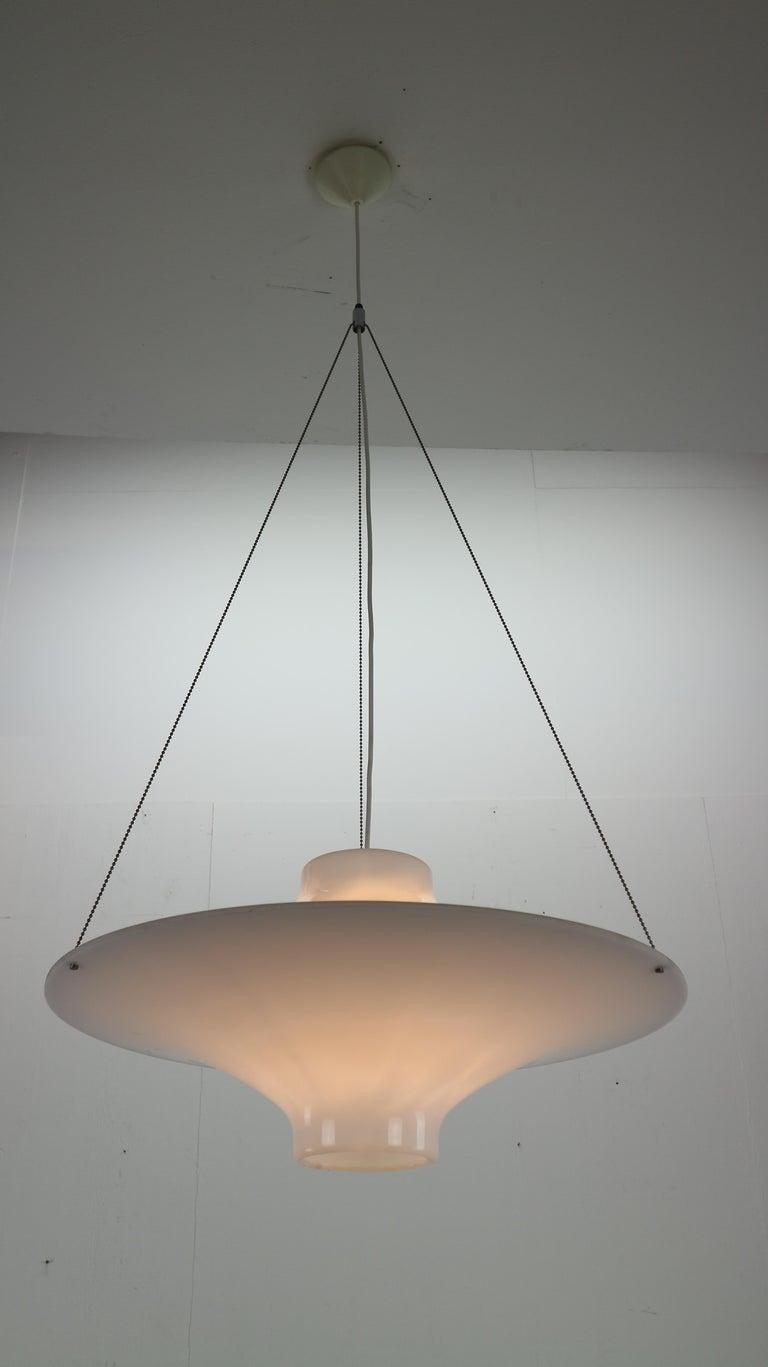 Acrylic Skyflyer, Lokki Hanging Lamp by Yki Nummi for Sanka, 1960s For Sale