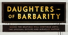 Daughters of Barbarity (lighted sign)