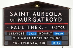 Saint Aureola of Murgatroyd, Paul Thek, Pastor (lighted sign)