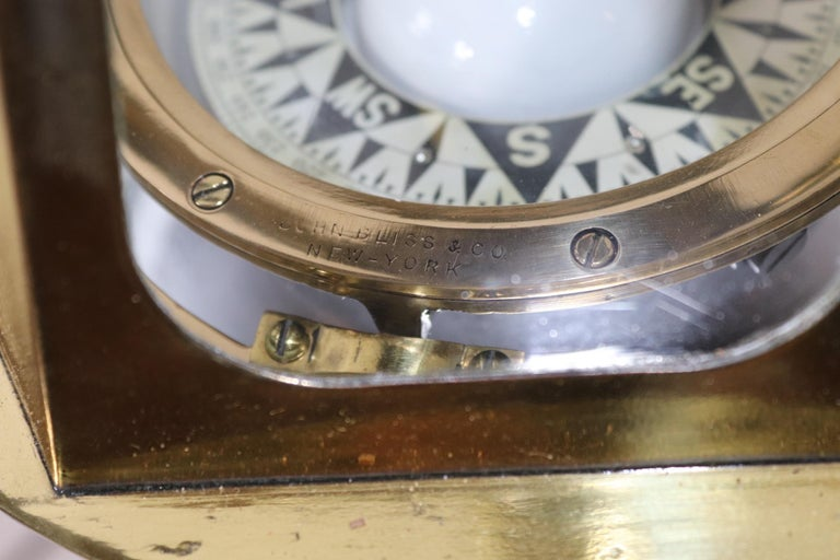 Skylight Yacht Binnacle Compass In Good Condition For Sale In Norwell, MA
