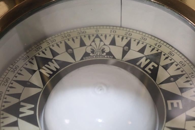 Early 19th Century Skylight Yacht Binnacle Compass For Sale