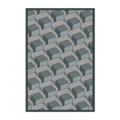 Skyline Geometric Blue Rug