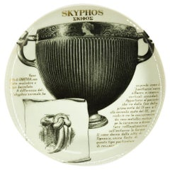Skyphos Plate for Martini & Rossi, by P. Fornasetti, 1960s