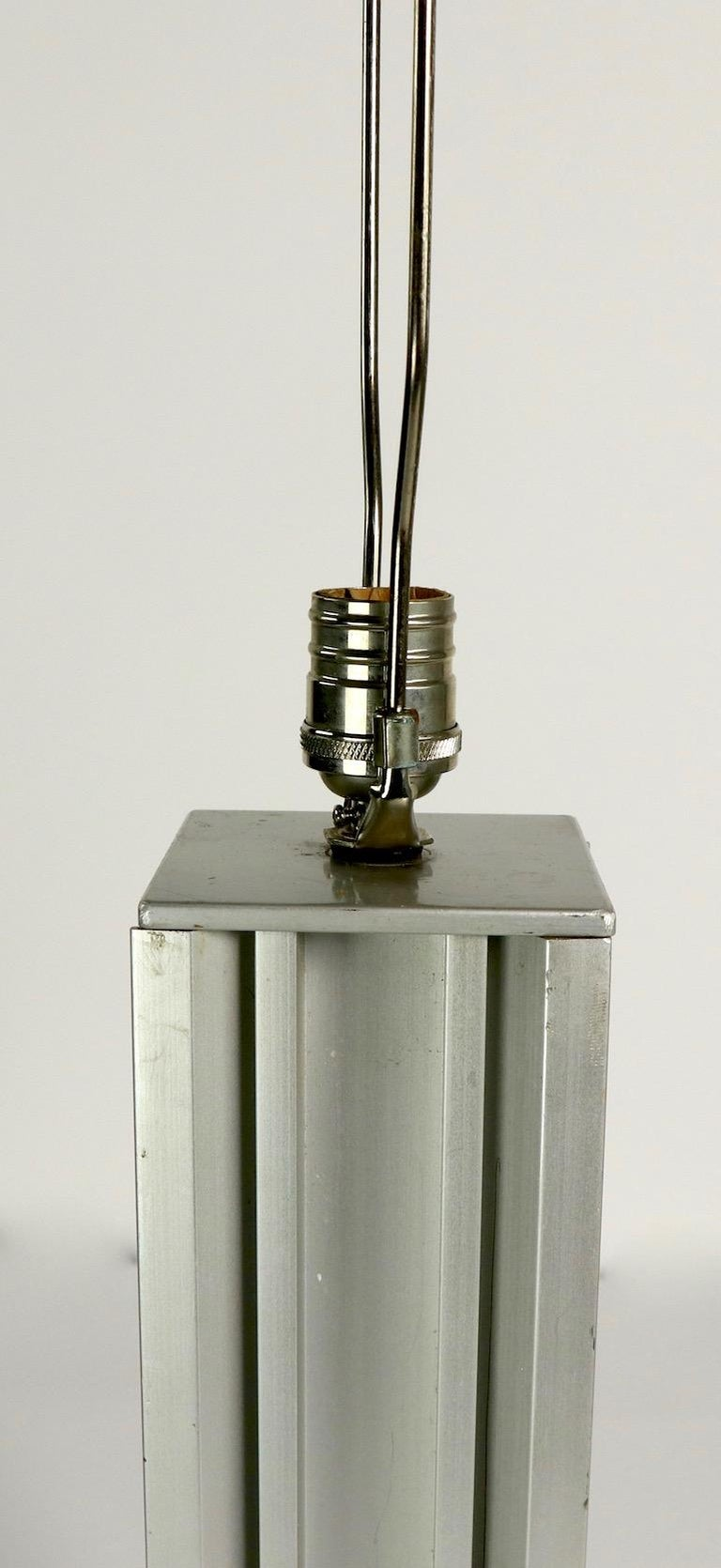Skyscraper Form Machined Aluminum Table Lamp For Sale 4
