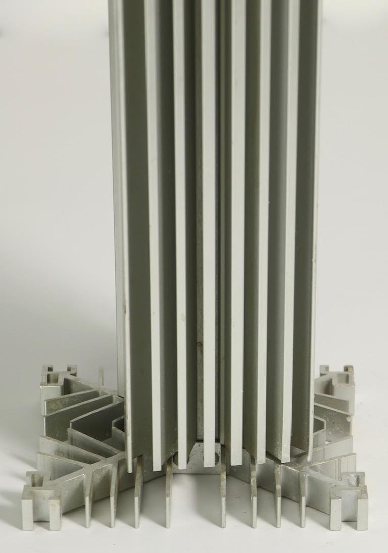 Skyscraper Form Machined Aluminum Table Lamp For Sale 3