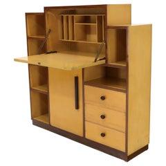 Skyscraper Style Drop Front Desk Secretary Bookcase Wall Unit Cabinet
