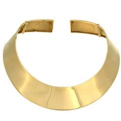 Slab Necklace in 18 Karat Yellow Gold