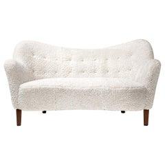 Slagelse Mobelvaerk 1950s Sheepskin Sofa