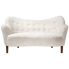 Slagelse Mobelvaerk Model 185 Sheepskin Sofa