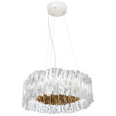 Slamp Accordéon Prisma Gold 3000K Chandelier by Marc Sadler