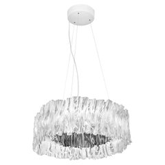 Slamp Accordéon Prisma Silver 3000K Chandelier by Marc Sadler