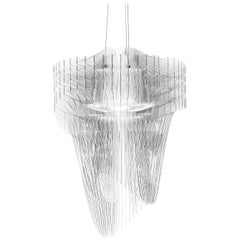 SLAMP Aria Medium Pendant Light in Transparent by Zaha Hadid