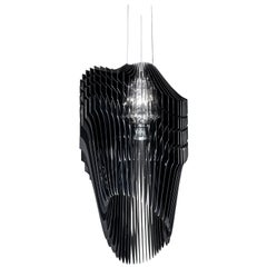 Slamp Avia Large Pendant Light in Black by Zaha Hadid