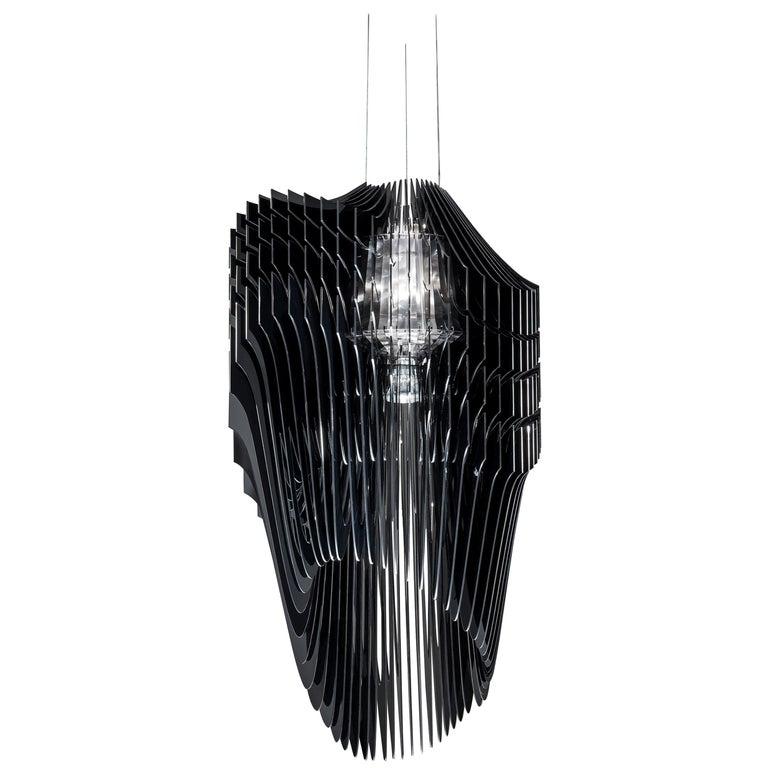 Slamp Avia Large Pendant Light in Black by Zaha Hadid For Sale