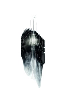 Slamp Avia Large Pendant Light in Black Fade by Zaha Hadid