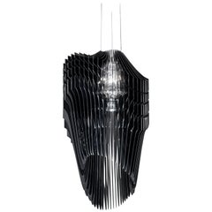 SLAMP Avia Medium Pendant Light in Black by Zaha Hadid