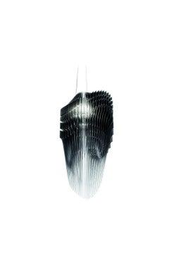 SLAMP Avia Medium Pendant Light in Black by Zaha Hadid