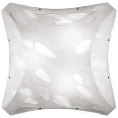 SLAMP Bios Medium Flush Light in White by Nigel Coates