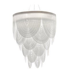SLAMP Ceremony Large Pendant Light in White by Bruno Rainaldi
