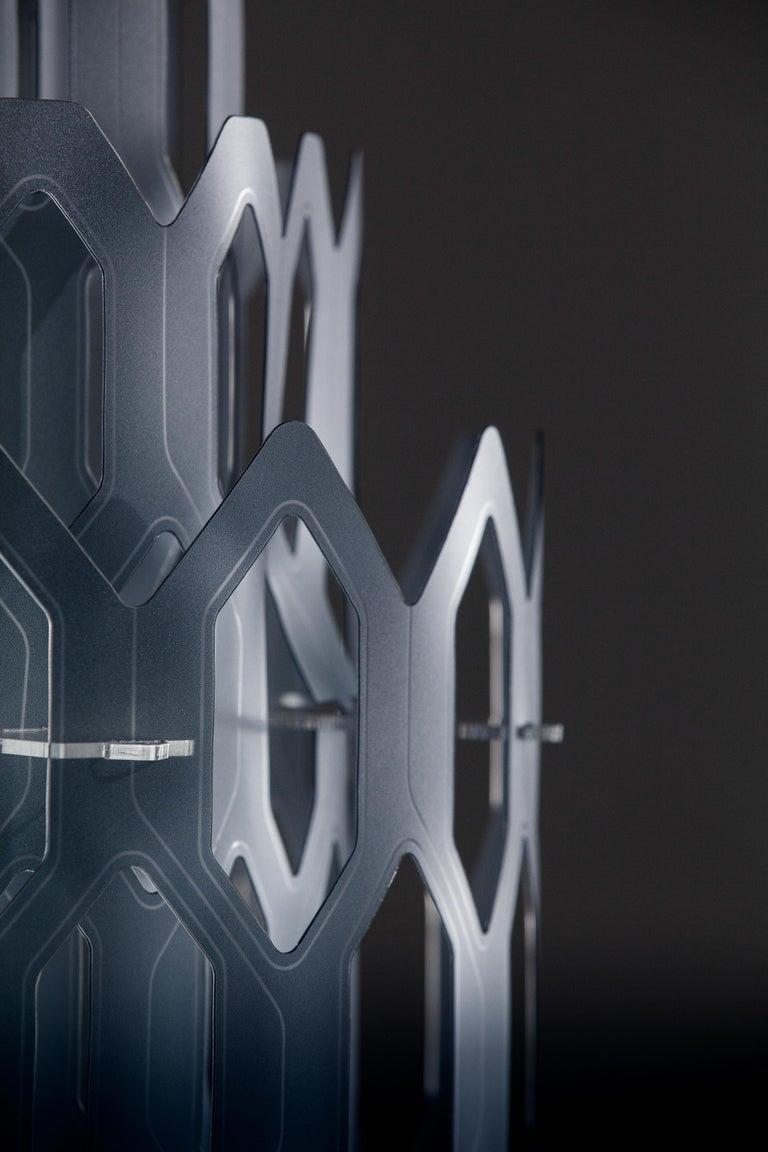 Modern SLAMP Chantal Medium Pendant Light in Blue by Doriana & Massimiliano Fuksas For Sale