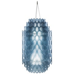 SLAMP Chantal Medium Pendant Light in Blue by Doriana & Massimiliano Fuksas