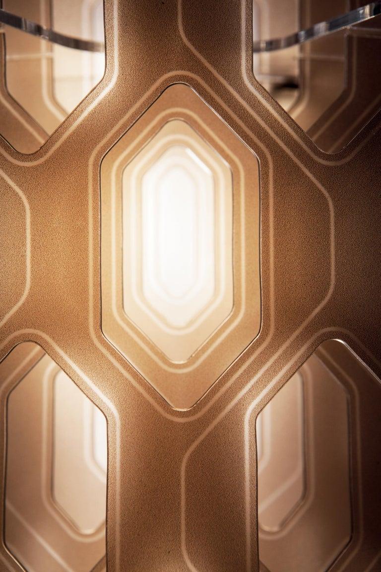 Modern SLAMP Chantal Medium Pendant Light in Orange by Doriana & Massimiliano Fuksas For Sale