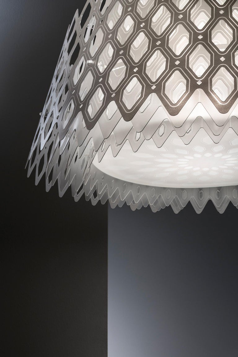 Modern SLAMP Charlotte Half Pendant Light in White By Doriana & Massimiliano Fuksas     For Sale