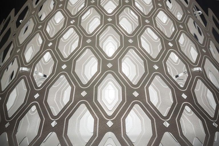 Italian SLAMP Charlotte Half Pendant Light in White By Doriana & Massimiliano Fuksas     For Sale