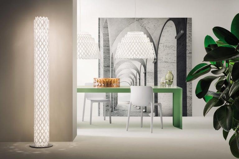 SLAMP Charlotte Half Pendant Light in White By Doriana & Massimiliano Fuksas     In New Condition For Sale In Pomezia, Rome