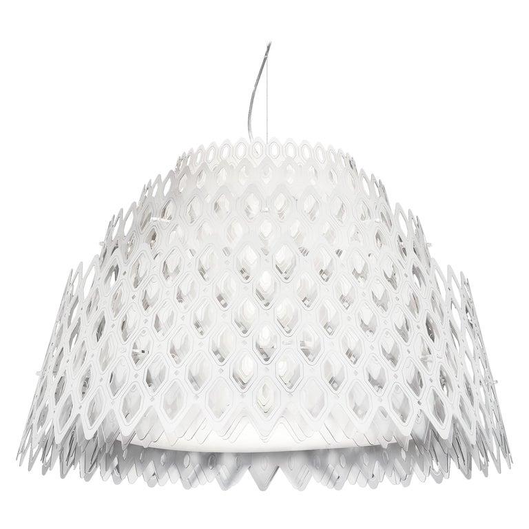 SLAMP Charlotte Half Pendant Light in White By Doriana & Massimiliano Fuksas     For Sale