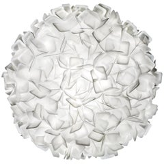 SLAMP Clizia Large Flush Light in White by Adriano Rachele