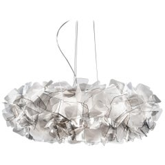 SLAMP Clizia Large Pendant Light in Fumé by Adriano Rachele