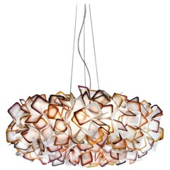SLAMP Clizia Large Pendant Light in Orange by Adriano Rachele