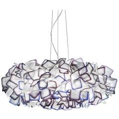 SLAMP Clizia Large Pendant Light in Purple by Adriano Rachele