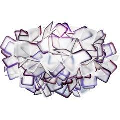 SLAMP Clizia Medium Flush Light in Purple by Adriano Rachele