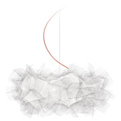 Slamp Clizia Pendant Medium Pixel, Red Wire by Adriano Rachele
