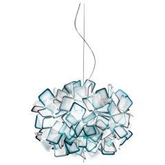 SLAMP Clizia Small Pendant Light in Blue by Adriano Rachele
