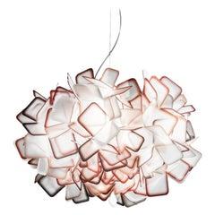 SLAMP Clizia Small Pendant Light in Orange by Adriano Rachele